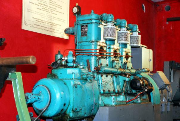 Foto eines Junkers Dreizylindermotors Typ 3HK65