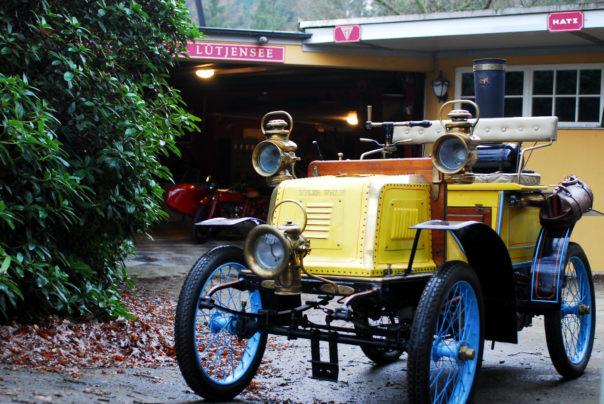 Foto des Dampfautos English Mechanic Steam Car