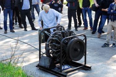 Vorführung Sternmotor